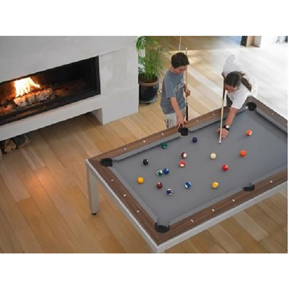 Fusion Pool Table Wood Top Benches Game Room Guys