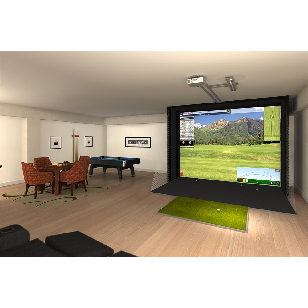 Full swing s2 golf simulator game room guys for Golf simulator room dimensions
