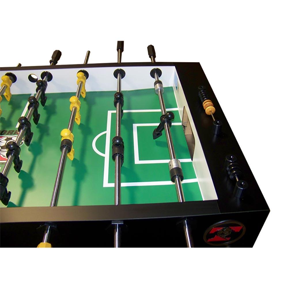 Tornado T 3000 Black Foosball Table 1 Goalie Game Room
