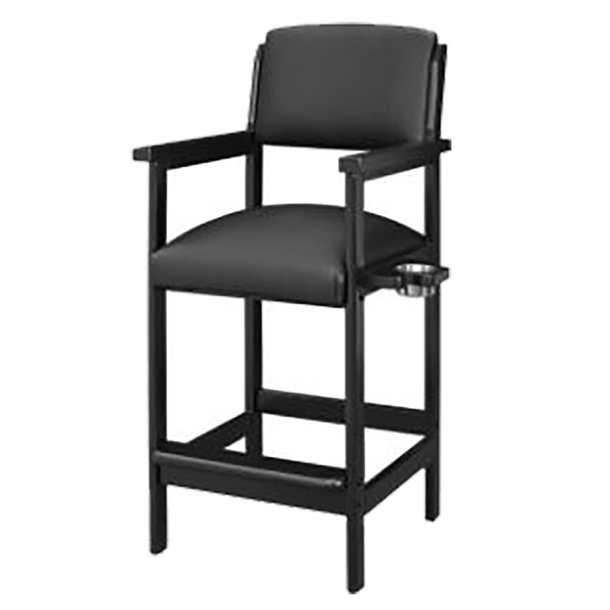 Merveilleux Black Billiard Spectator Chair