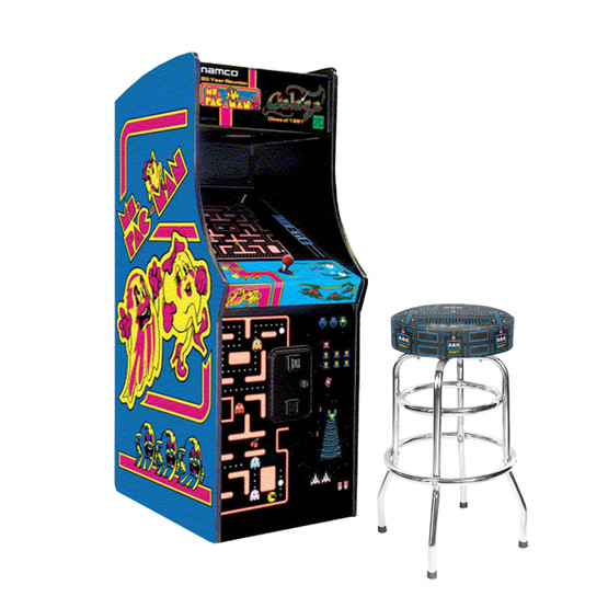 Ms Pacman Amp Galaga With 30 Quot Pac Man Stool Game Room Guys