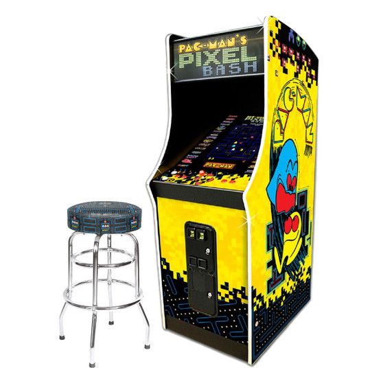 Pac Man Pixel Bash Coin Op 30 Quot Pac Man Stool Game Room Guys