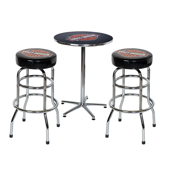 Harley Davidson Bar Amp Shield Table Amp Barstools Game Room