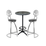 Brilliant Harley Davidson Dark Custom Cafe Table And Skull Bar Stools Squirreltailoven Fun Painted Chair Ideas Images Squirreltailovenorg