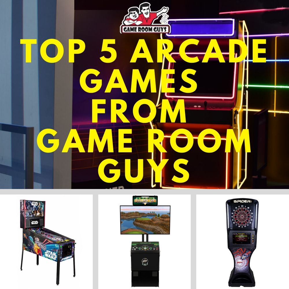 Top 5 Arcade Games from Game Room Guys | Game Room Guys