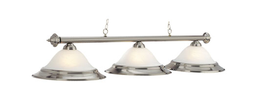 RAM Gameroom Alabaster Glass 3 Light Billiard Fixture with Stainless at Sears.com