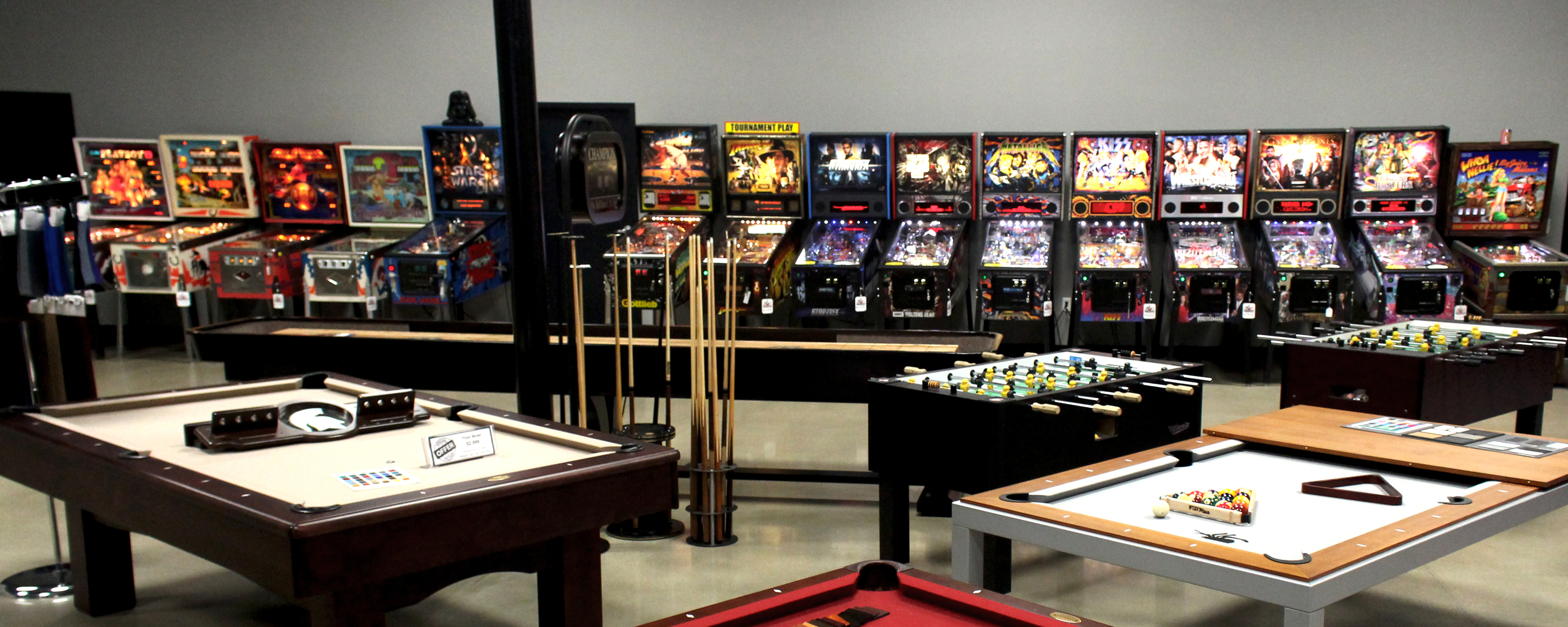 Pinballs in GRG Showroom