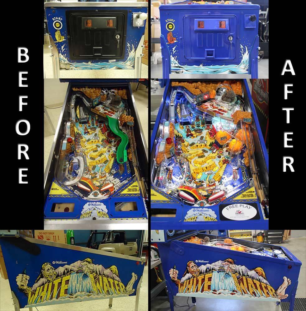 White Water Pinball Restoration Restore Repair